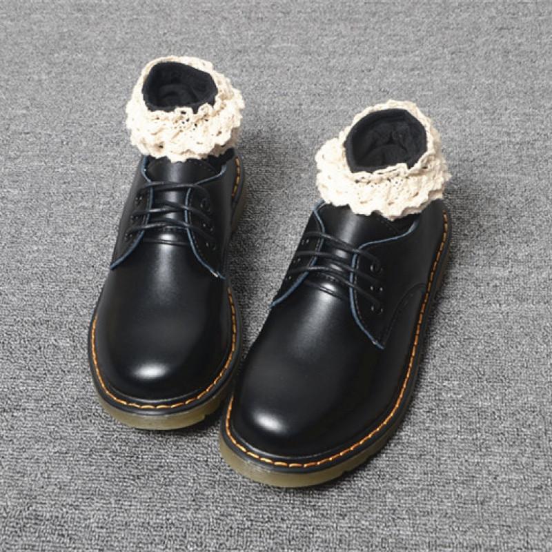 新款英伦风春秋新款平底马丁鞋复古大头娃娃鞋日系森女单鞋学院小皮鞋
