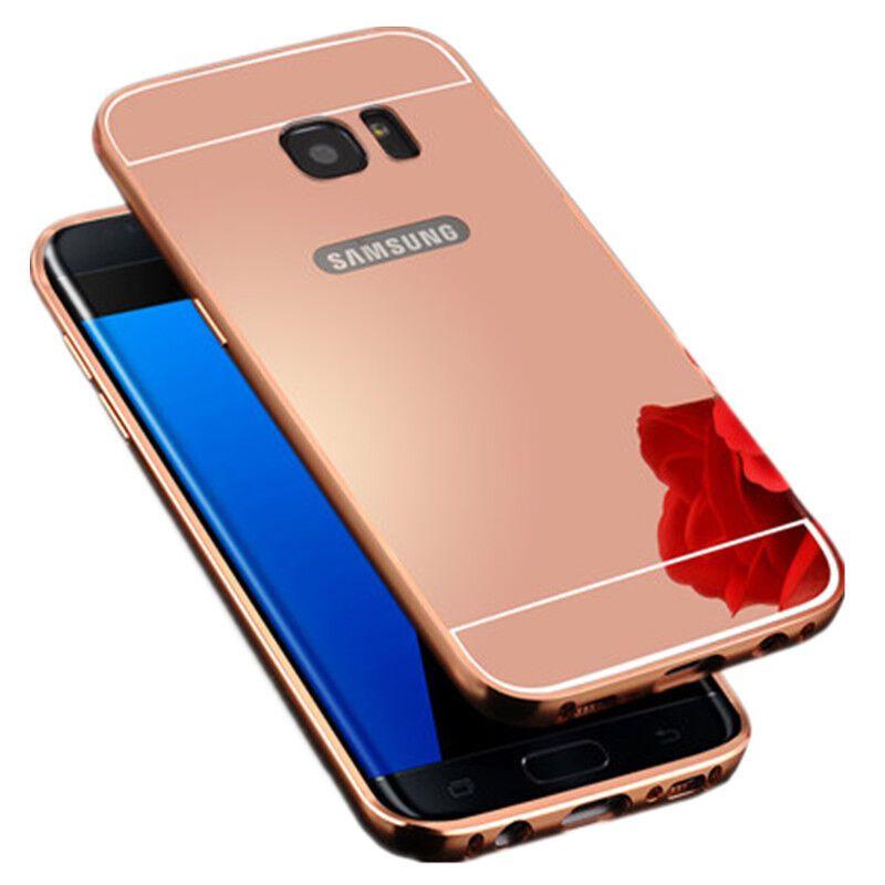 特七【送防爆膜】三星s8 手机壳保护套/金属边框镜面后盖全包硬壳6.