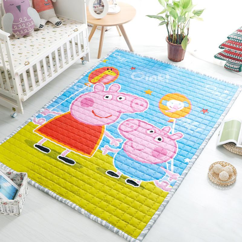 全棉儿童地毯卧室爬行垫长方形家用客厅床边垫榻榻米
