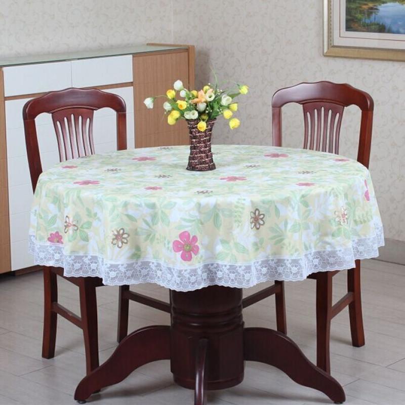 【】圆形桌布塑料pvc圆餐桌布台布酒店桌布防水防油免洗