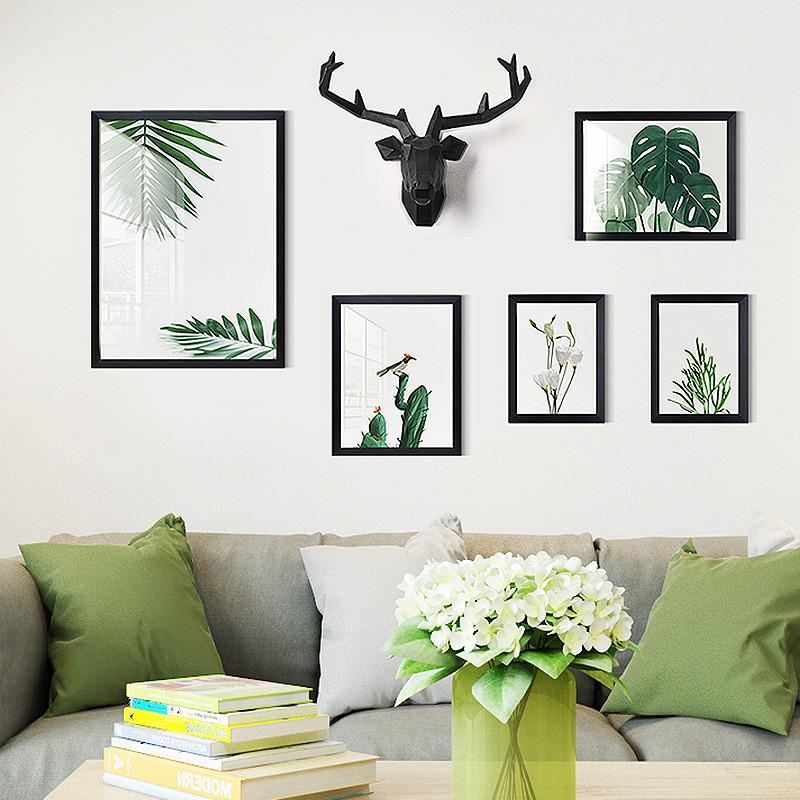 客厅装饰画沙发背景墙北欧风格挂画组合美式墙画壁画现代简约温馨