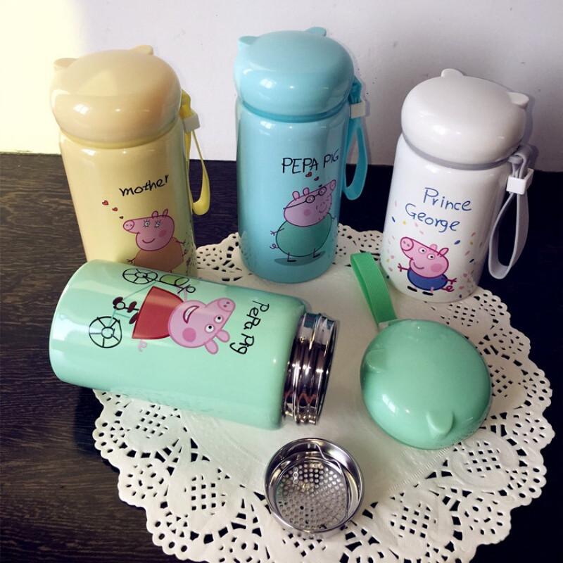 卓品佳小学生女童小孩子喝水杯子创意可爱不锈钢卡通儿童保温杯便携防