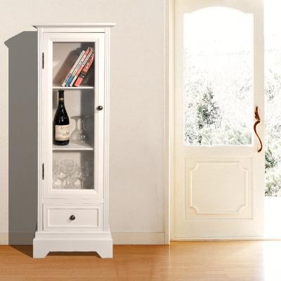 欧式玻璃酒柜实木隔断柜客厅角柜白色装饰柜玻璃储物厅柜玄关柜台