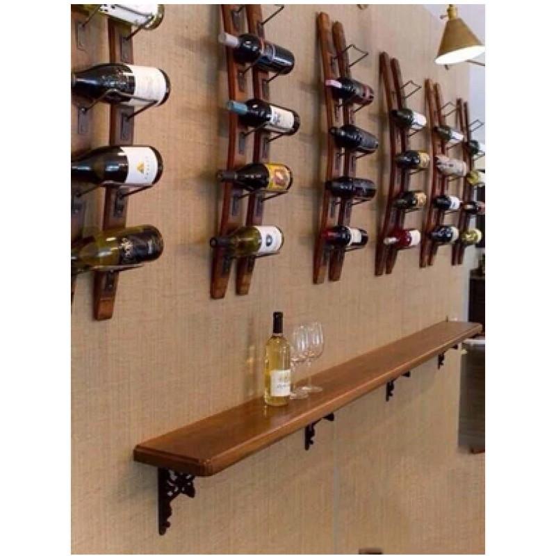 包邮loft实木酒架壁挂壁挂式酒柜时尚创意悬挂红酒架吧台酒柜图片