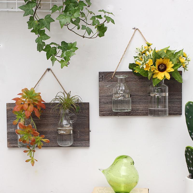 创意美式乡村墙面装饰水培玻璃瓶壁饰店铺橱窗咖啡厅阳台花园墙饰