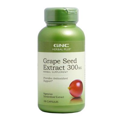 美國進口 健安喜(GNC) 葡萄籽精華軟膠囊花青素300mg100粒