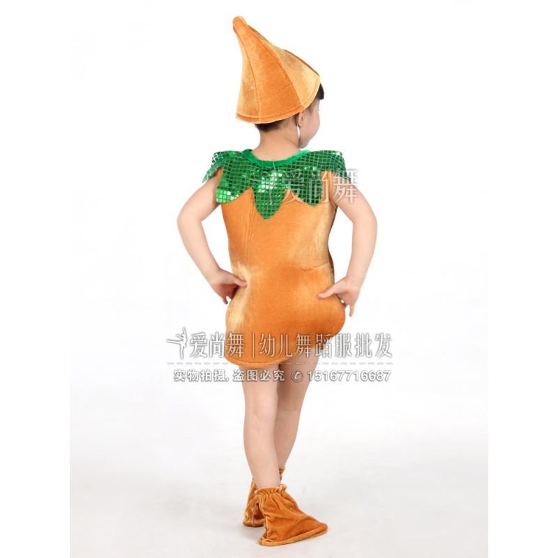 新款儿童水果蔬菜土豆演出服装幼儿园马铃薯造型亲子表演服土豆舞蹈服