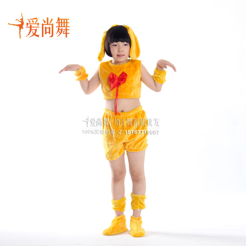新款爱尚舞儿童舞蹈表演服装幼儿斑点狗哈巴狗我和小狗来唱歌演出服装