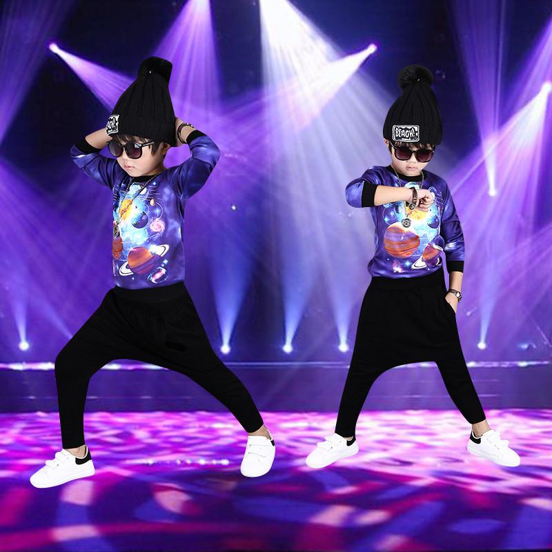 街舞表演_新款新款嘻哈团体演出服小学生街舞ds表演服装儿童爵士舞舞台比赛服装