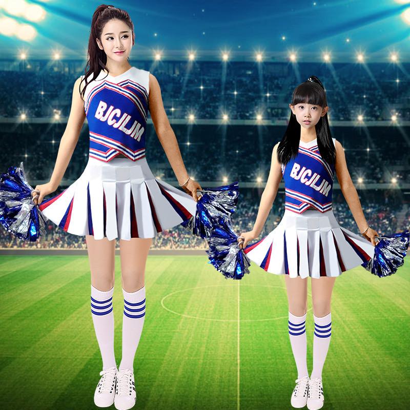 新款新款成人儿童啦啦操服装拉拉队足球宝贝健美操演出服学生比赛舞蹈图片