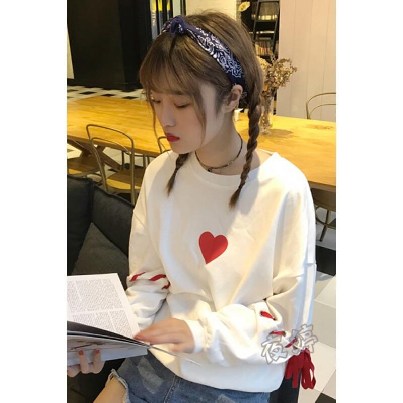 秋装新款装甜美百搭时尚软妹小衫韩版学生闺蜜装绑带可爱卫衣l5