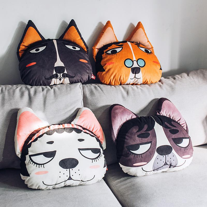卡通可爱办公室午休靠枕汽车珊瑚绒抱枕被子两用靠垫被空调毯子
