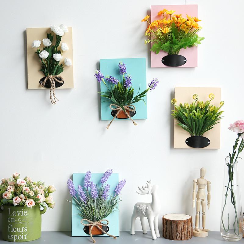 室内摆设装饰假花挂墙仿真植物花艺塑料花客厅餐厅墙面布置田园风