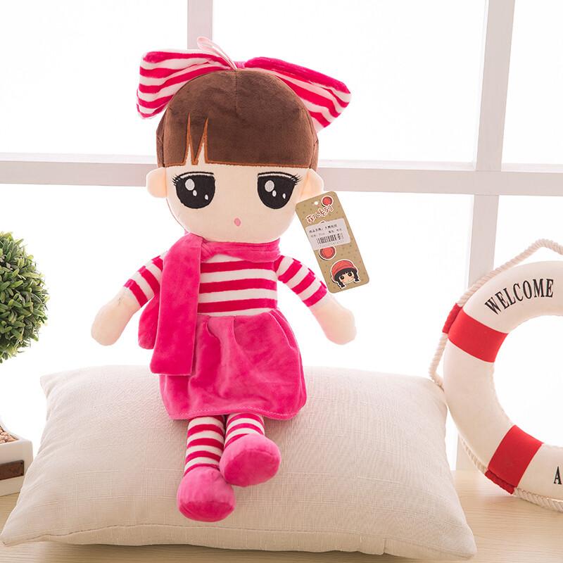 小女孩公主芭比布娃娃公仔毛绒玩具抱枕玩偶抱抱熊女.