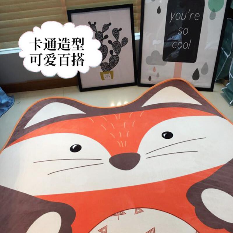 卡通儿童房不规则加厚婴儿宝宝可爱爬行垫卧室地毯防滑榻榻米地垫呆萌