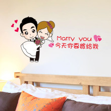 结婚婚礼装饰墙贴卡通网红客厅装饰墙贴纸网络搞笑表情卧室贴画 你要图片
