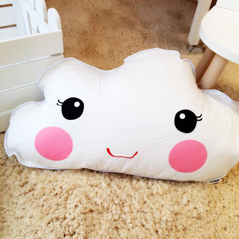 卡通婴儿床床头靠垫儿童陪睡抱枕纯棉可爱靠枕可拆洗软包靠背