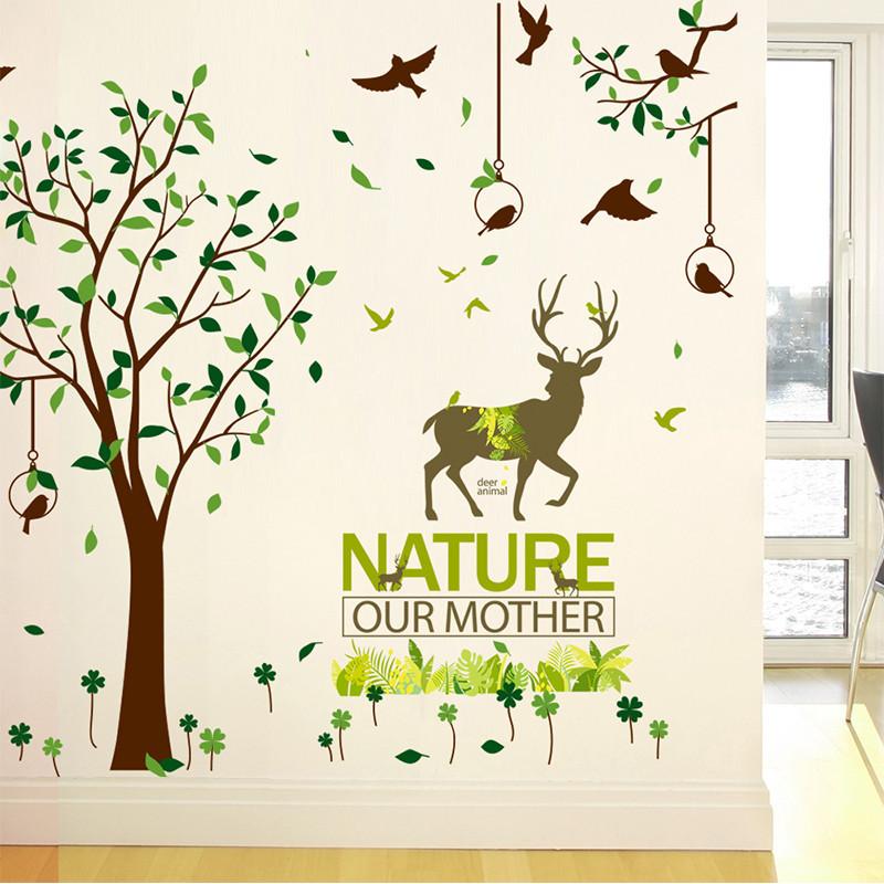 卧室温馨浪漫创意墙贴纸贴画房间背景墙面装饰品墙花照片墙纸自粘