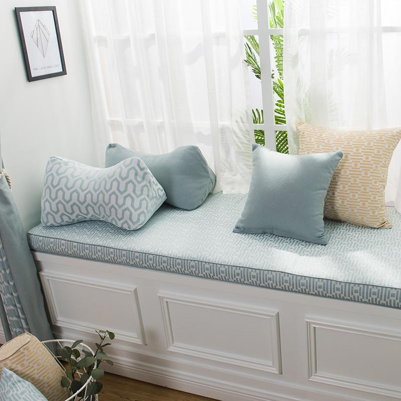 风飘窗垫可机洗客厅窗台垫现代简约阳台垫榻榻海绵定制窗垫