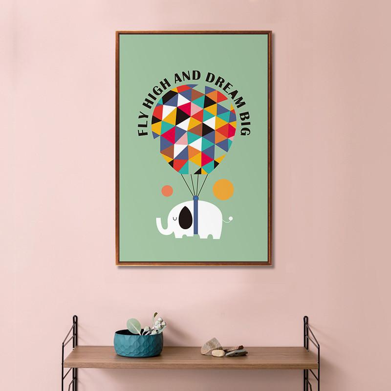北欧现代卡通装饰画简约餐厅墙壁画客厅卧室床头画儿童房挂画壁画