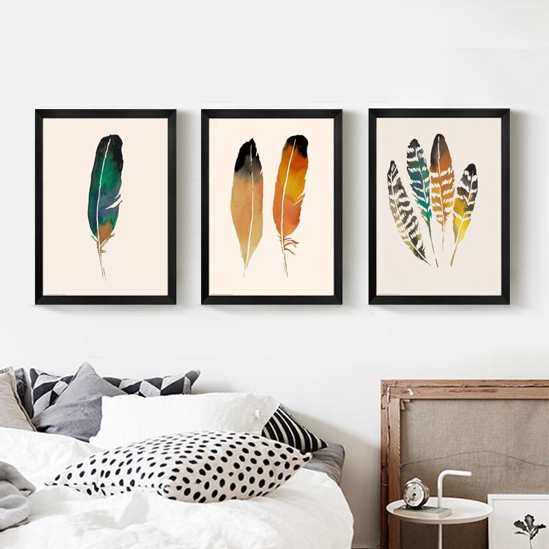 北歐客廳裝飾畫現代簡約掛畫小清新風格壁畫臥室床頭溫馨墻畫