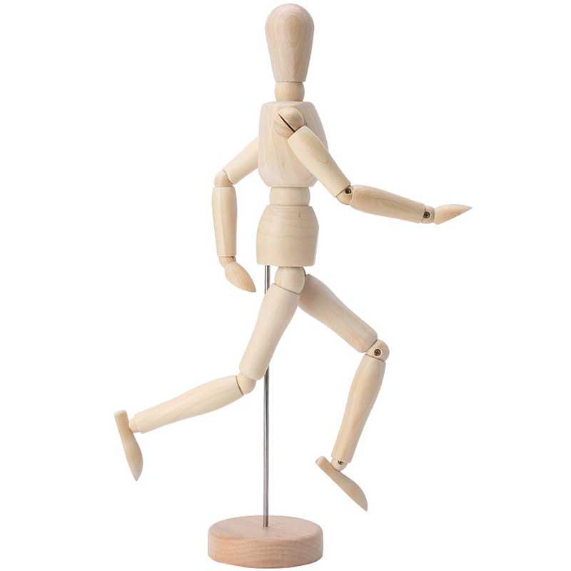 关节人偶素体手办模型diy创意木头人手家居装饰品办公