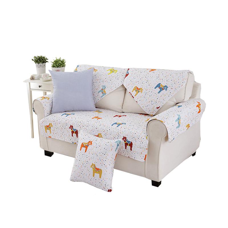 新款2018卡通沙发垫布艺可爱简约现代四季通用韩版客厅薄款坐垫子组合