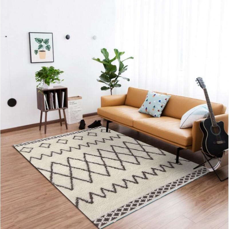新款特价ins北欧风地毯客厅茶几现代简约几何超柔卧室图片