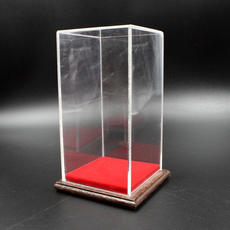 新款2018有机玻璃罩亚克力防尘罩工艺品摆件透明玉器佛像展示红木罩子图片