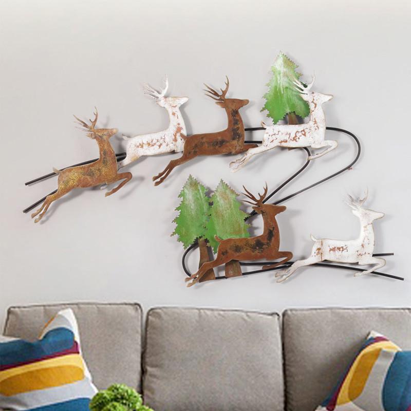 新款2018snnei 简约现代铁艺壁饰 创意动物造型墙饰 个性家居装饰壁挂