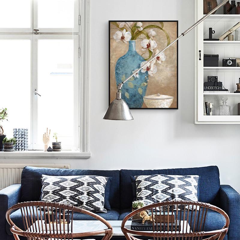 新款2018欧式床头装饰 沙发背景墙装饰画现代简约壁画图片