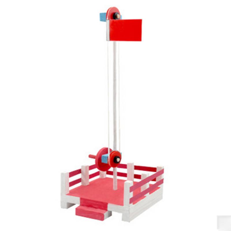 旗台小学生diy手工科技小制作发明科学实验玩具 旗升降台