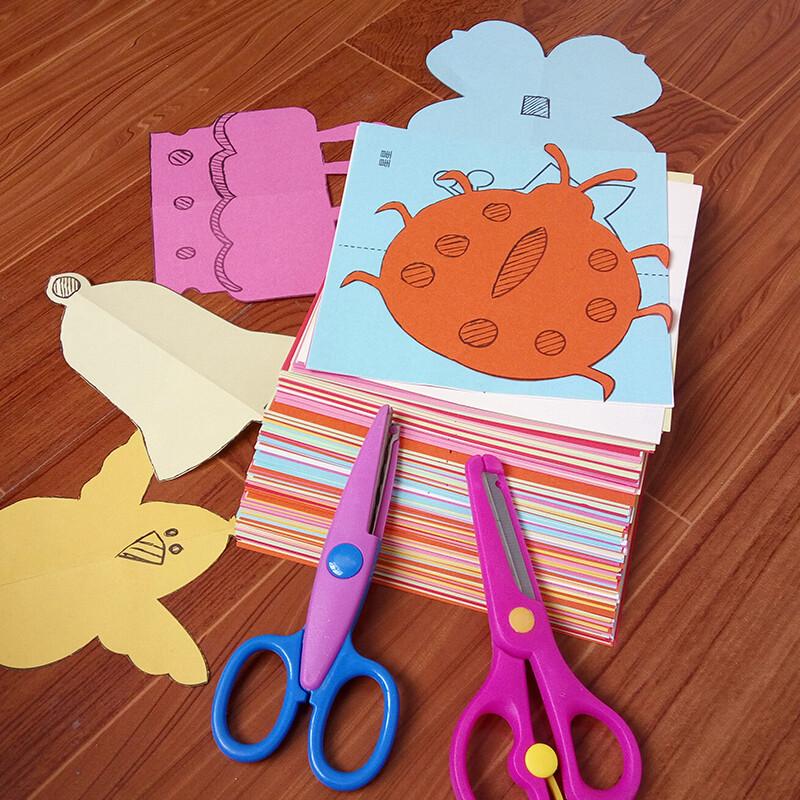 儿童剪纸书diy手工制作材料幼儿园宝宝折纸男女孩4-3图片