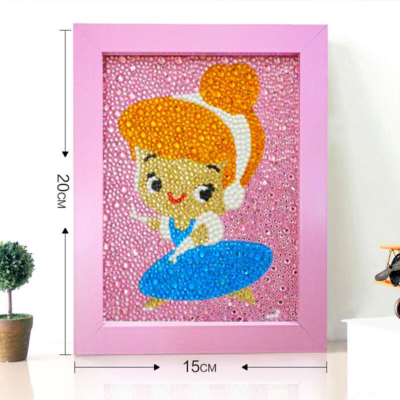 儿童钻石贴画配画框满钻卡通手工制作材料包中秋节礼物粘贴画