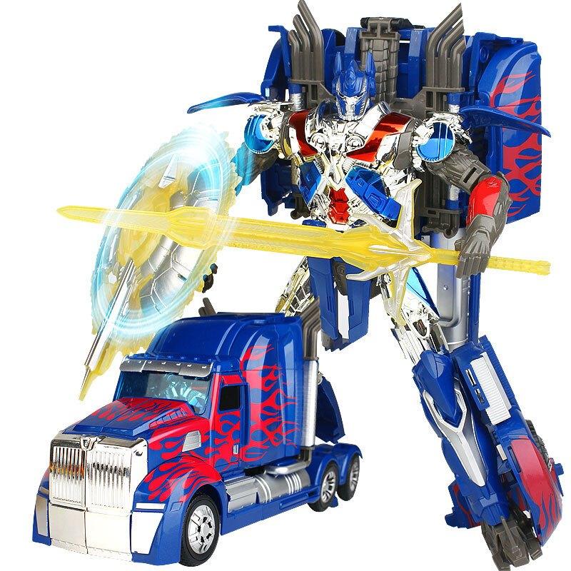 变形玩具金刚5擎天柱大黄蜂汽车机器人模型正版男孩儿童玩具礼物