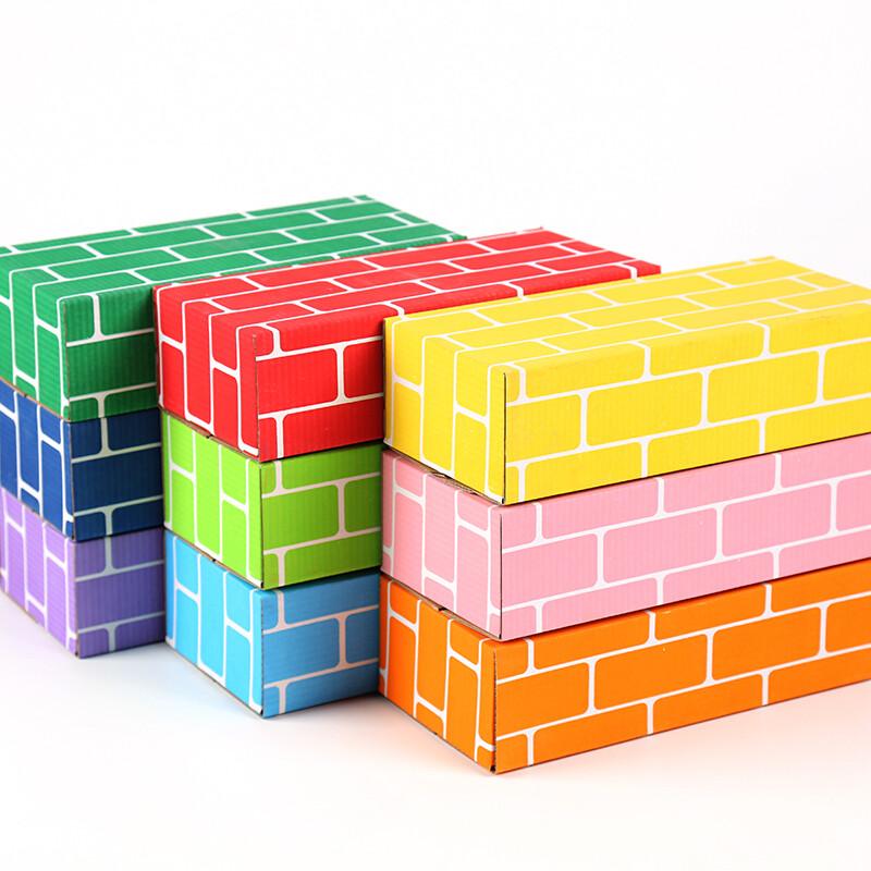 彩色仿真纸砖幼儿园儿童拼搭纸砖头积木建构区角游戏环境布置