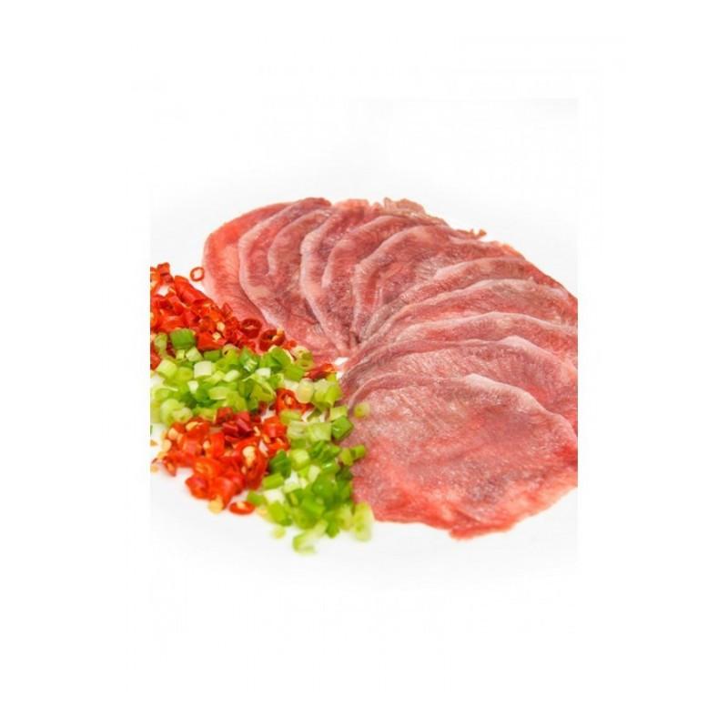 牛舌切片600g 新鲜牛口条去皮去舌苔 牛舌头 生鲜 yfz