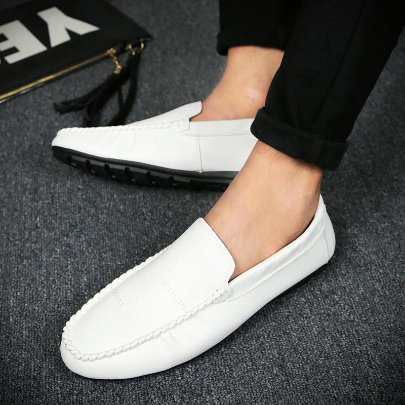 秋天男版豆豆鞋社会人鞋子韩版英伦瓢鞋快手红人同款青少年懒人鞋