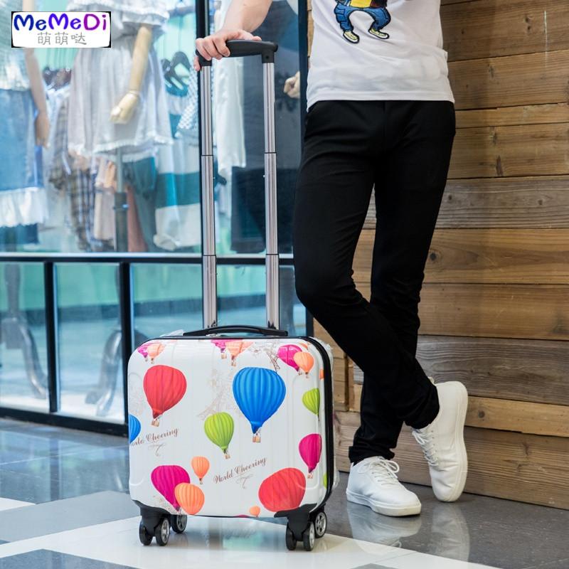 memedi迷你卡通登机箱17寸男旅行箱可爱女学生行李箱拉杆箱手拉箱小