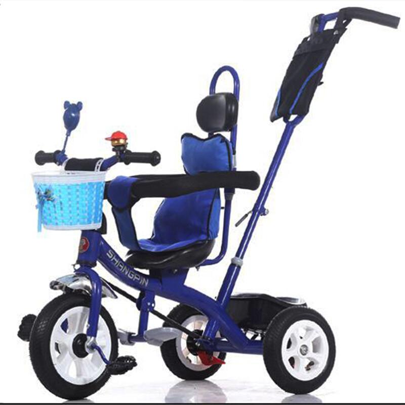 智扣儿童三轮车宝宝脚踏车手推车溜娃神器1-6岁