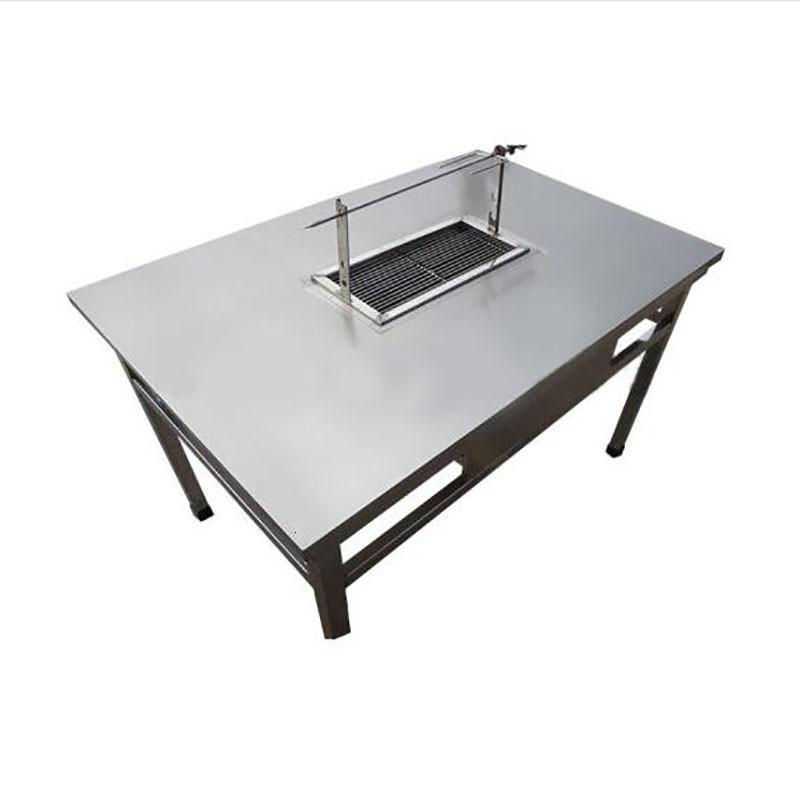 无烟不锈钢烧烤烤羊腿桌子 全羊桌图片