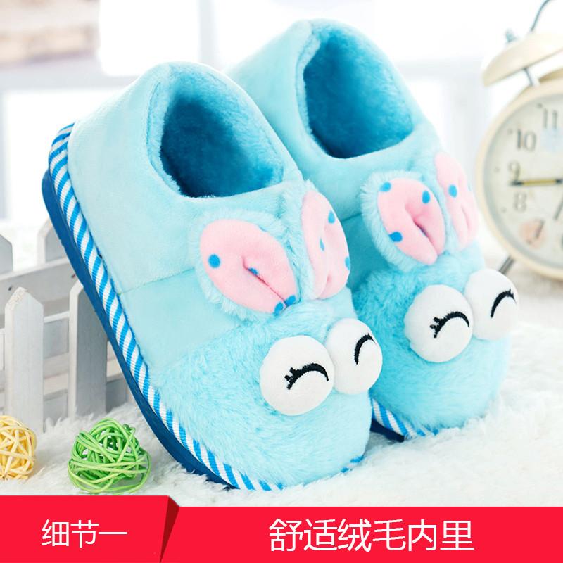 女童棉拖鞋女冬季可爱小公主宝宝室内包跟女孩儿童棉鞋冬天保暖鞋