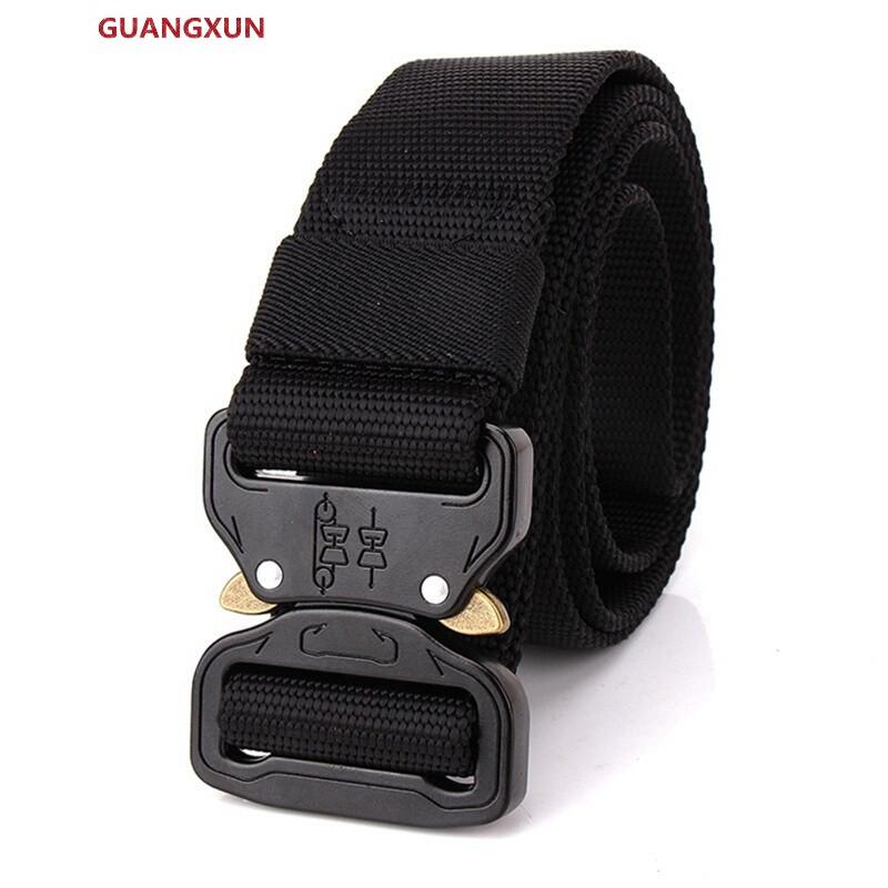 guangxun眼镜蛇扣战术腰带男青年帆布腰带布皮带布带自动扣多功能户外图片