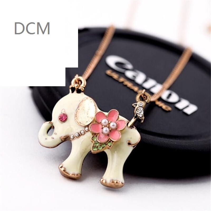 dcm时尚韩版个性可爱小象女士短款项链锁骨链