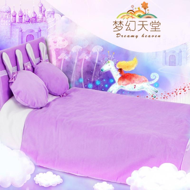 促销大芭比夜萝莉叶罗丽娃娃床家具3分娃bjd梦幻公主双人床组合全套装图片