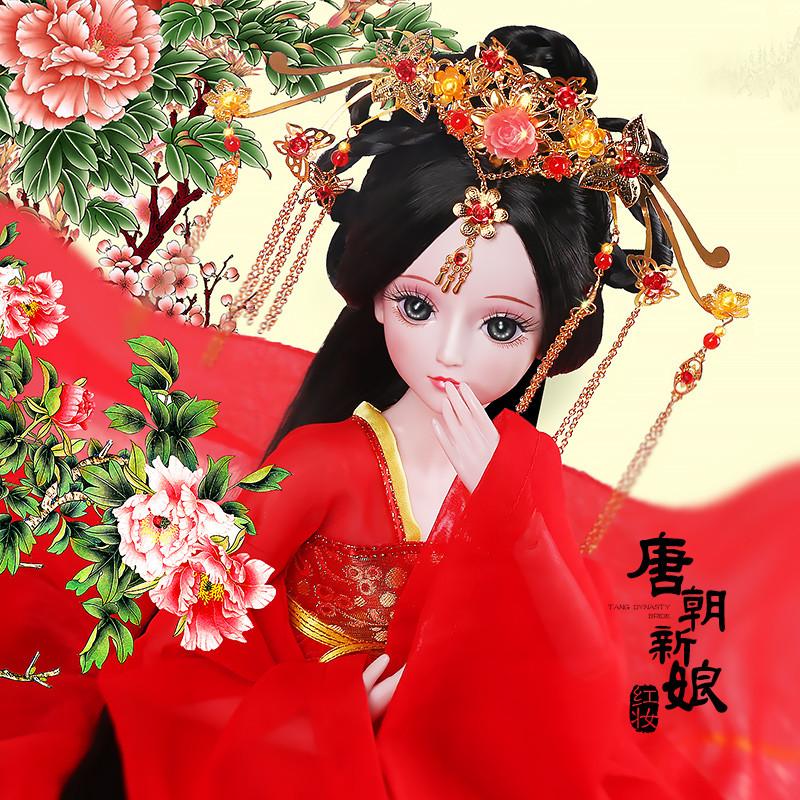 促销女孩公主洋娃娃叶罗丽仙子定制冰雪皇后苏珊珍妮梦幻新娘婚纱套装图片