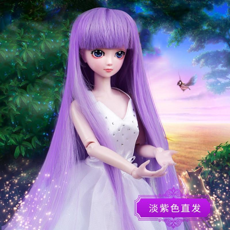 促销精灵梦50厘米夜萝莉仙子娃娃发套假发bdj/sd/叶罗丽娃娃头发/假发图片