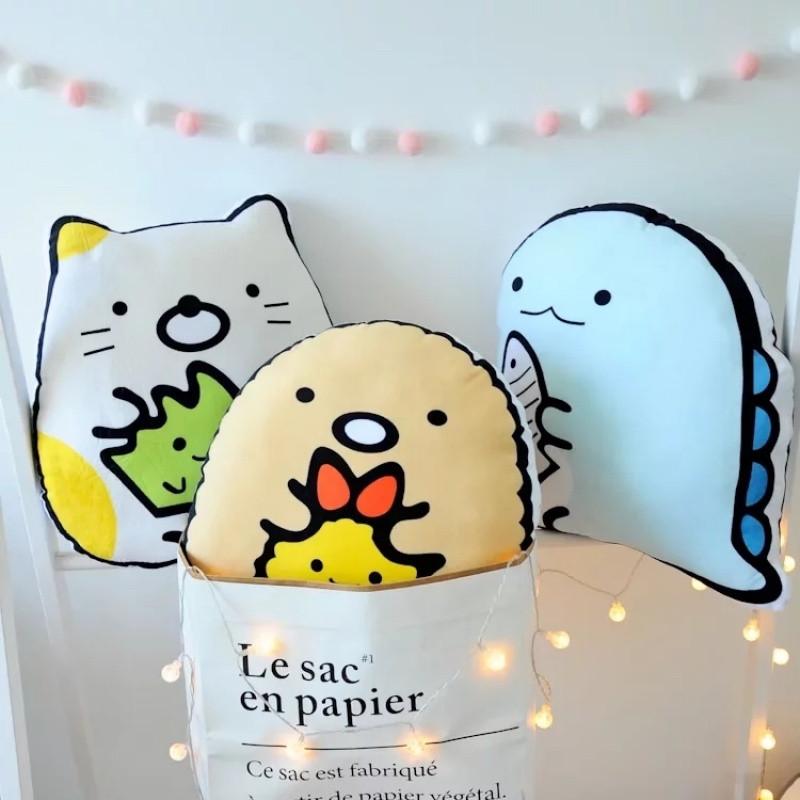 促销可爱角落生物抱枕靠枕靠垫萌猫咪家居沙发飘窗儿童房装饰拍照卡通