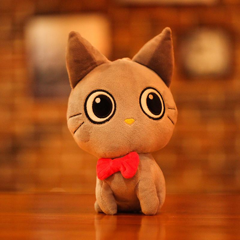 促销小猫咪抱枕毛绒玩具娃娃女生小号迷你情侣猫公仔情人节礼物送女友