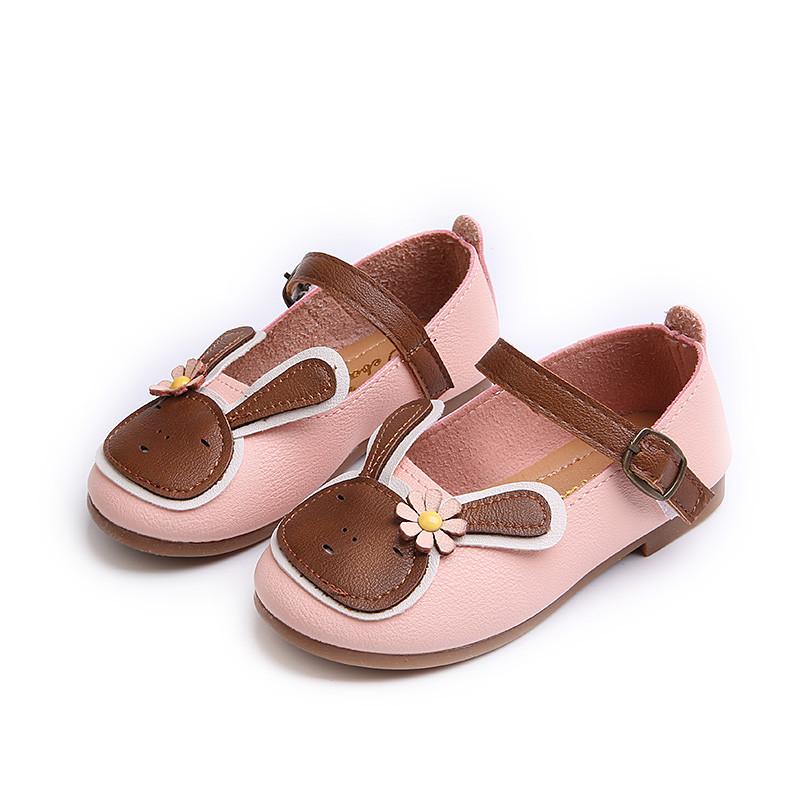 促销女童皮鞋2017春秋新款单鞋可爱儿童鞋子软底宝宝鞋卡通小兔公主鞋